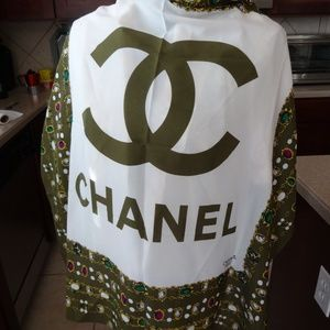 Chanel Silk Twill Square Scarf Gemstones